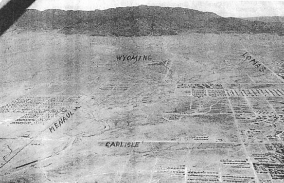 Old Aerial photograph of the Albuquerque NE Heights